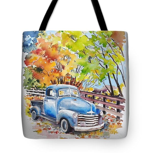 The Old Chevy In Autumn Tote Bag