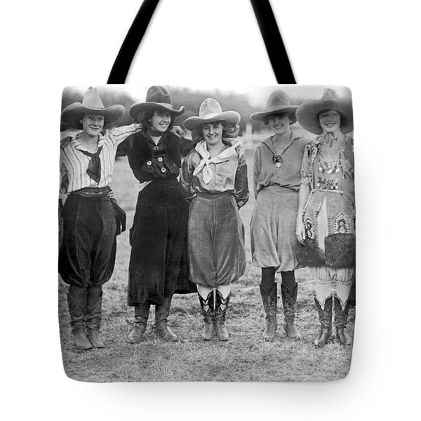 The Cheyenne Rodeo Roundup Cowgirls Tote Bag
