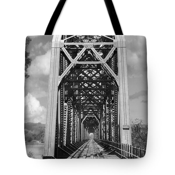 The Chicago And North Western Railroad Bridge Tote Bag by Mike McGlothlen