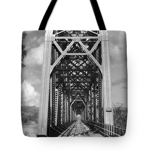 The Chicago And North Western Railroad Bridge Tote Bag