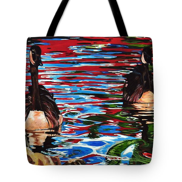 The Chincgacousy Lovers 2 Tote Bag by Henny Dagenais