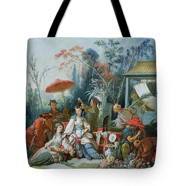 The Chinese Garden, C.1742 Oil On Canvas Tote Bag