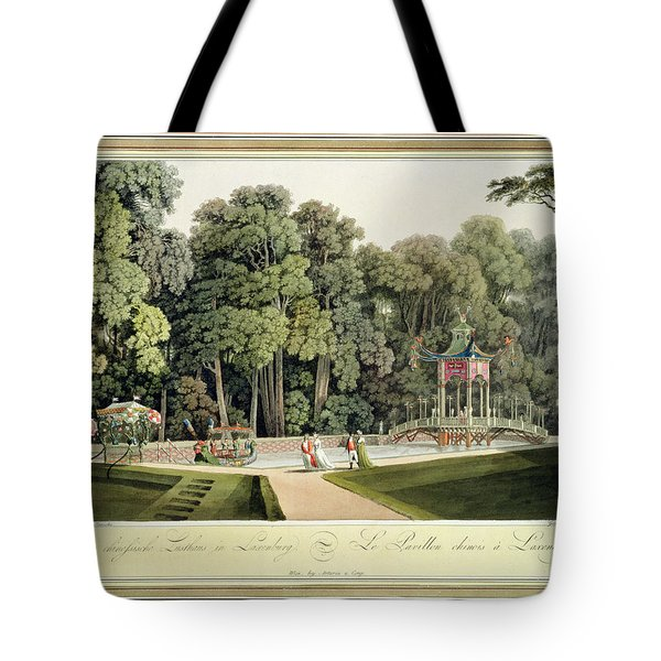 The Chinese Pavilion In The Laxenburg Tote Bag by Laurenz Janscha