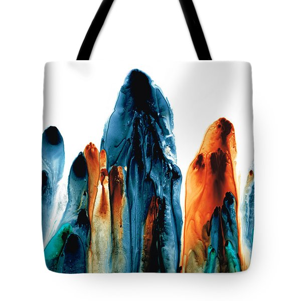 The Chosen Ones - Emotive Abstract Painting Tote Bag by Sharon Cummings