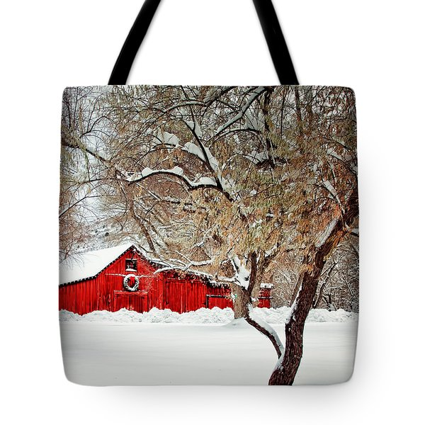 The Christmas Barn Tote Bag