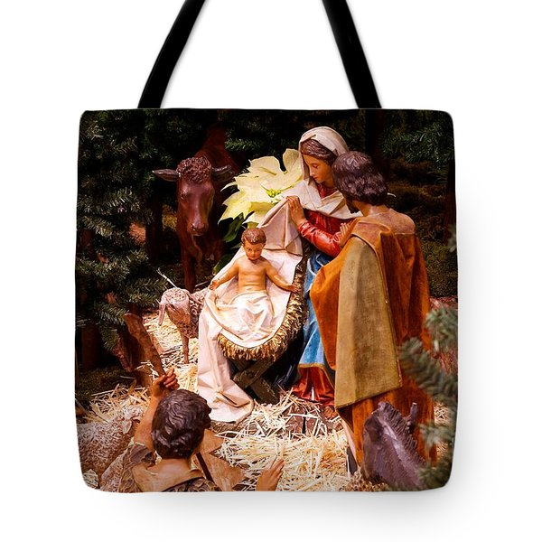 The Christmas Creche At Holy Name Cathedral - Chicago Tote Bag