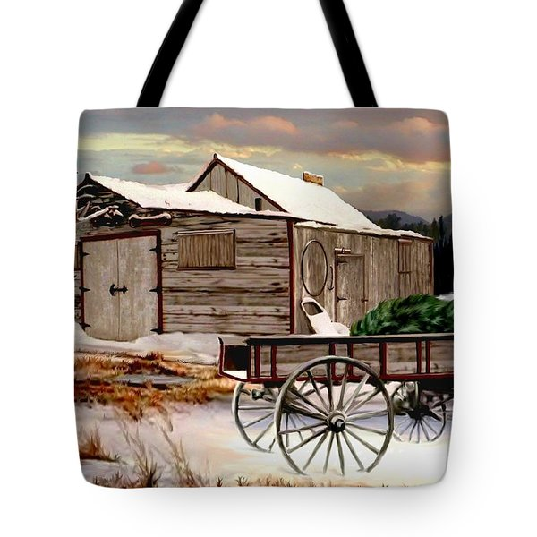 The Christmas Tree Tote Bag by Ron and Ronda Chambers