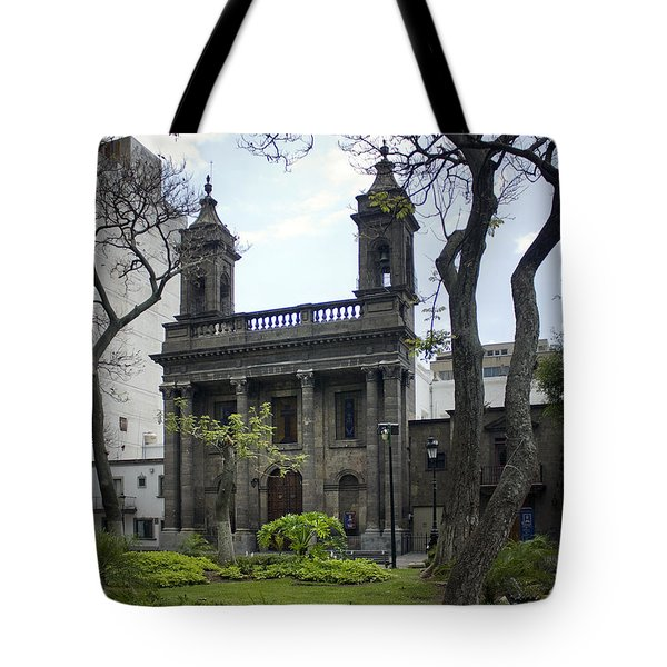 The Church Green Tote Bag by Lynn Palmer