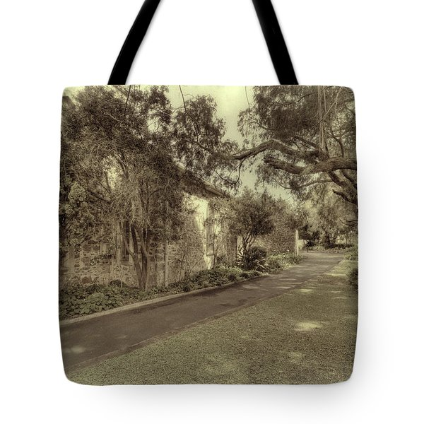 Tote Bag featuring the photograph The Church Lane by Elaine Teague