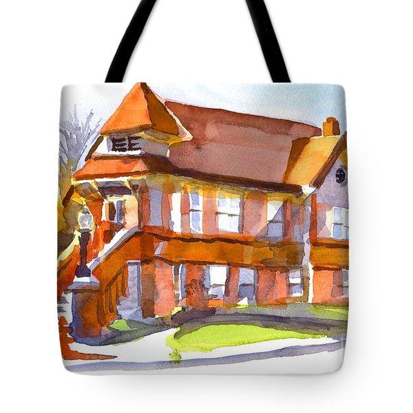 The Church On Shepherd Street 3 Tote Bag by Kip DeVore
