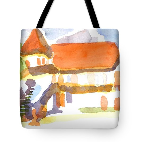 The Church On Shepherd Street V Tote Bag by Kip DeVore