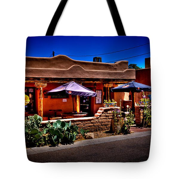 The Church Street Cafe - Albuquerque New Mexico Tote Bag by David Patterson