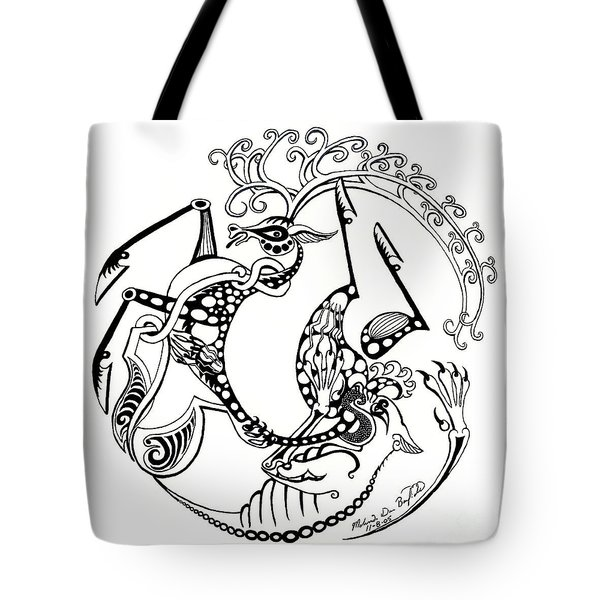 The Circle Of Life Tote Bag by Melinda Dare Benfield