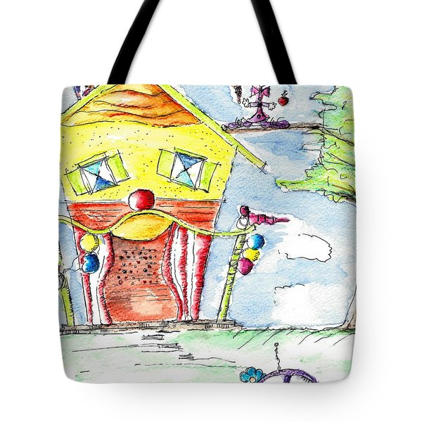 The Circus Clown Tote Bag by Jason Nicholas