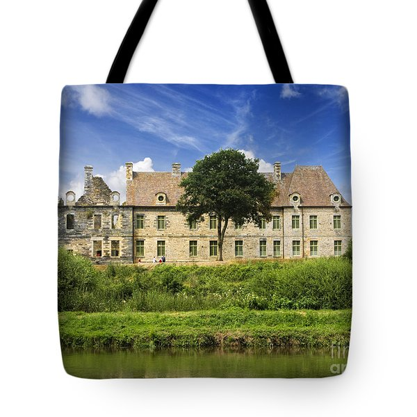 The Cistercian Abbey De Bon Repos Cotes D'armor Brittany France  Tote Bag by Jon Boyes