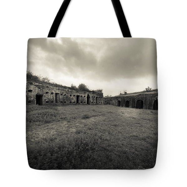 The Citadel At Fort Macomb Tote Bag by David Morefield