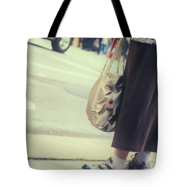 The City Moves At All Heights Tote Bag by Karol Livote