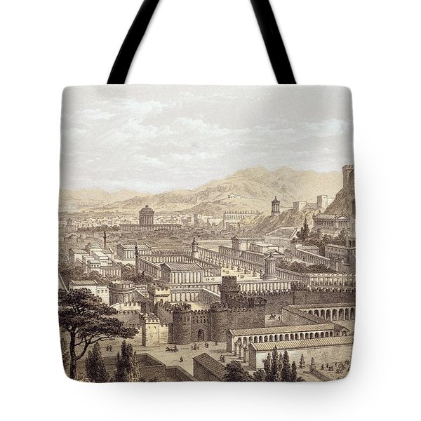 The City Of Ephesus From Mount Coressus Tote Bag by Edward Falkener