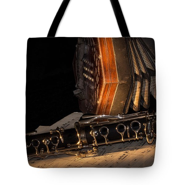 The Clarinet And The Concertina Tote Bag by Ann Garrett