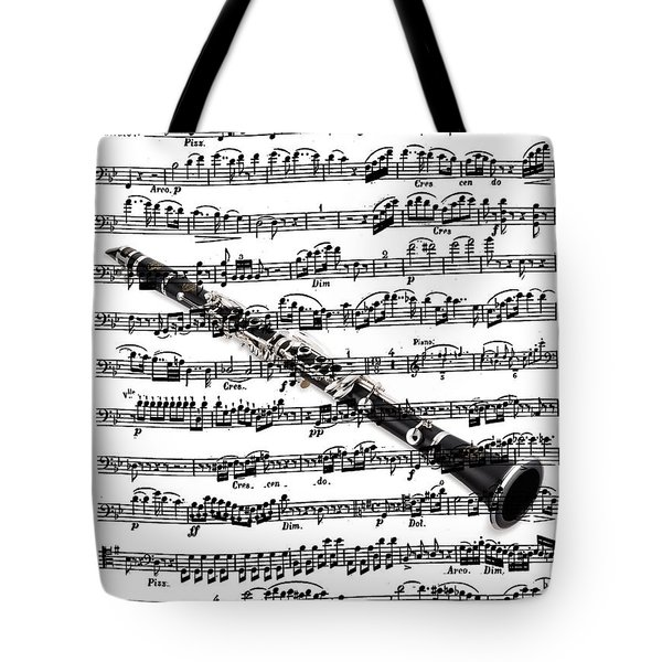 The Clarinet Tote Bag by Ron Davidson