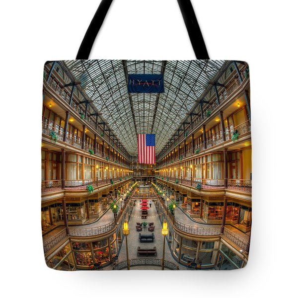 The Cleveland Arcade Vii Tote Bag by Clarence Holmes