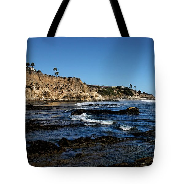 The Cliffs Of Pismo Beach Tote Bag by Judy Vincent