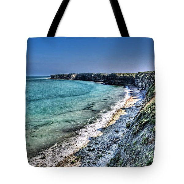 The Cliffs Of Pointe Du Hoc Tote Bag