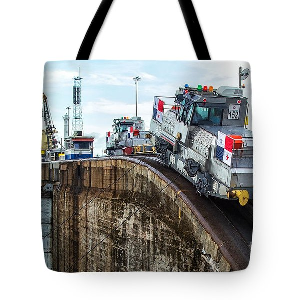 The Climbing Mule Of The Panama Canal Tote Bag