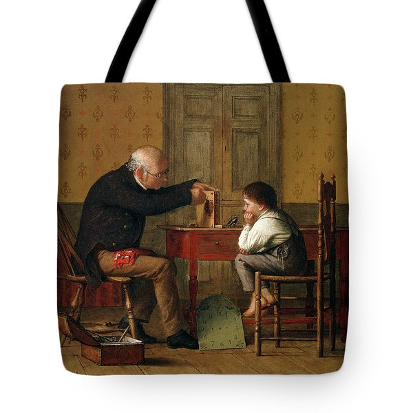 The Clock Doctor, 1871 Tote Bag by Enoch Wood Perry