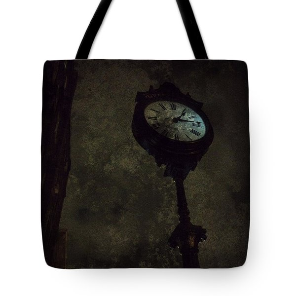 The Clock Of Greenpoint Tote Bag by Natasha Marco