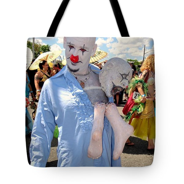 Tote Bag featuring the photograph The Clown by Ed Weidman