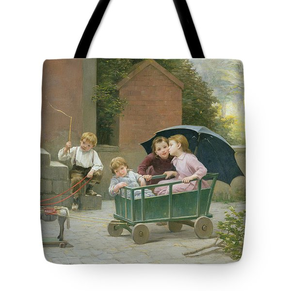 The Coach Ride Tote Bag by Charles Bertrand DEntraygues