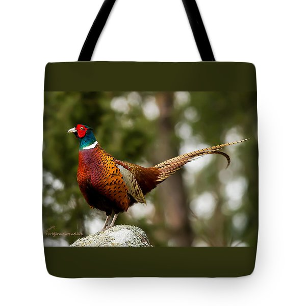 The Cock On Top Of The Rock Tote Bag by Torbjorn Swenelius