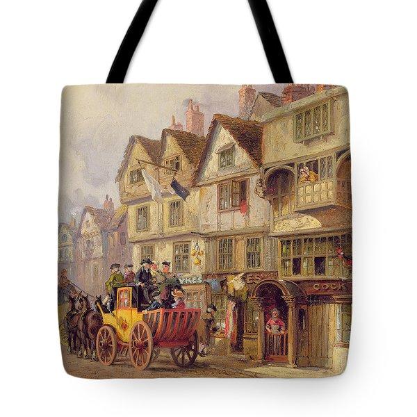 The Cock Tavern Tote Bag by Albert Joseph Moore