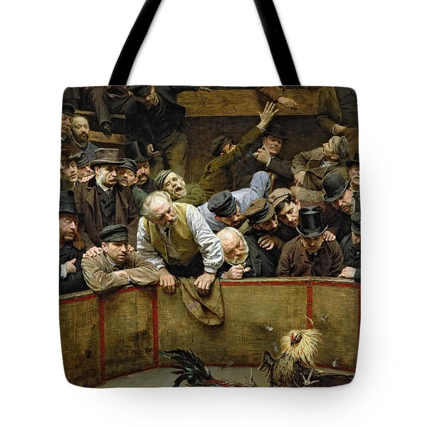 The Cockfight Tote Bag by Remy Cogghe