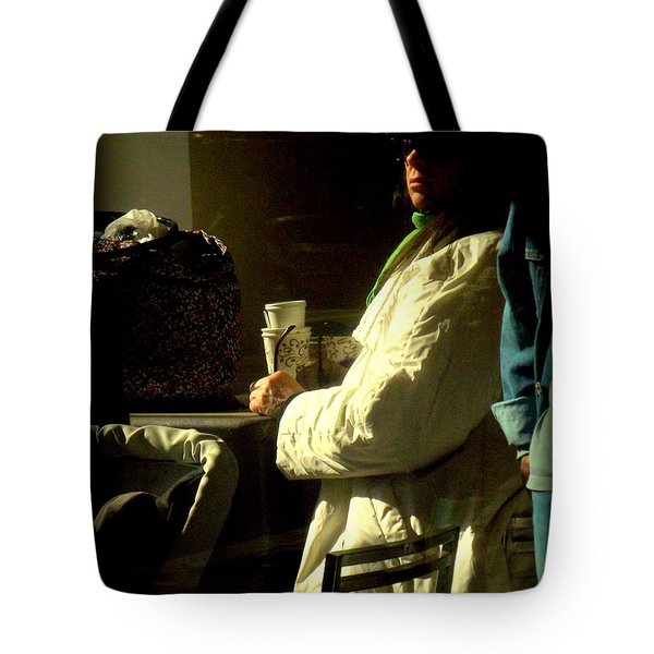 The Coffee Drinker Tote Bag by Miriam Danar