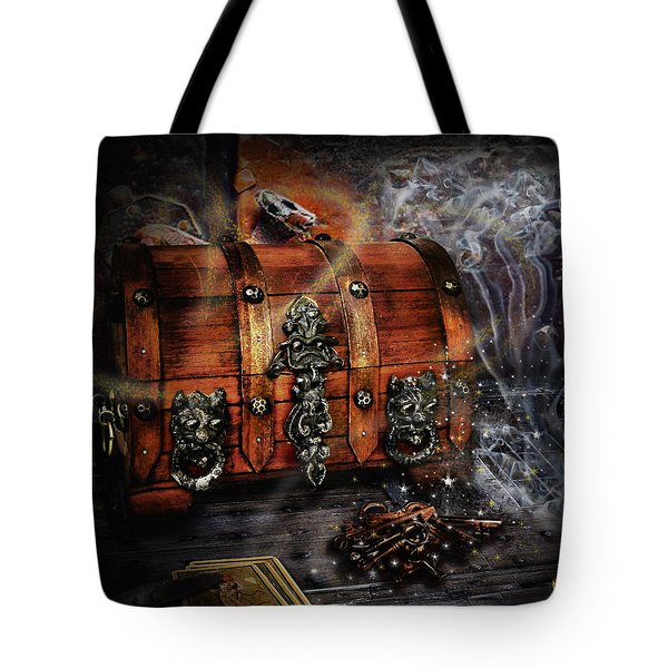 The Coffer Of Spells Tote Bag by Alessandro Della Pietra