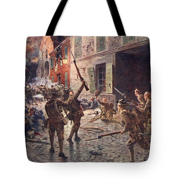The Coldstream Guards At Landrecies Tote Bag