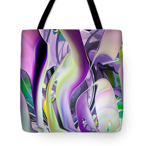 The Color Of Iris - Digital Abstract Art Tote Bag by rd Erickson