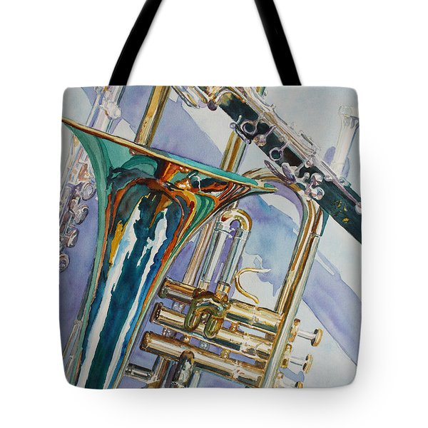 The Color Of Music Tote Bag by Jenny Armitage
