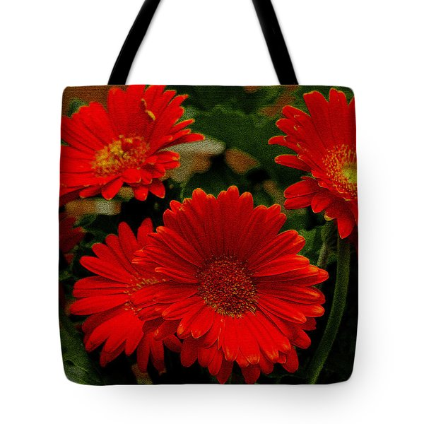 Gerbera Daisies Red Tote Bag