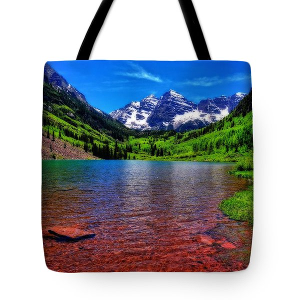 The Colors Of Maroon Bells In Summer Tote Bag
