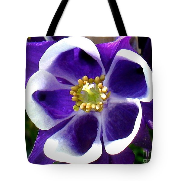 The Columbine Flower Tote Bag by Patti Whitten