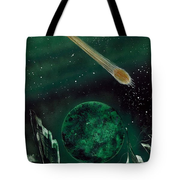 Tote Bag featuring the painting The Comet by Jason Girard