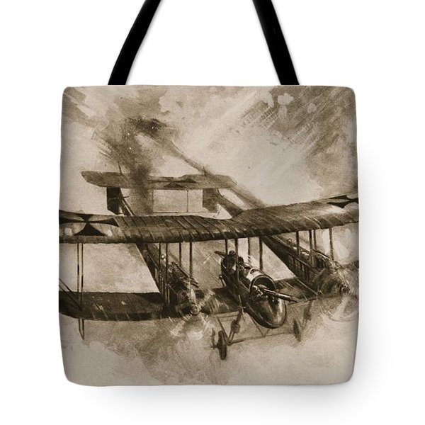 German Biplane From The First World War Tote Bag