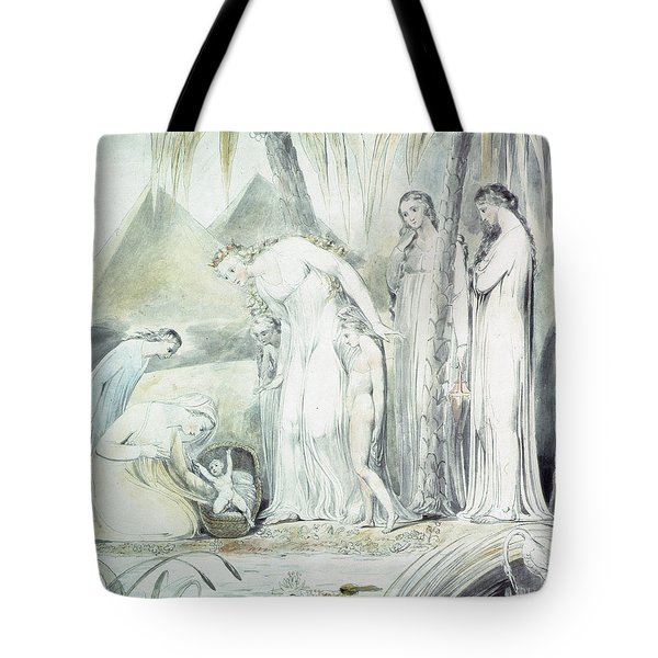 The Compassion Of Pharaohs Daughter Or The Finding Of Moses Tote Bag