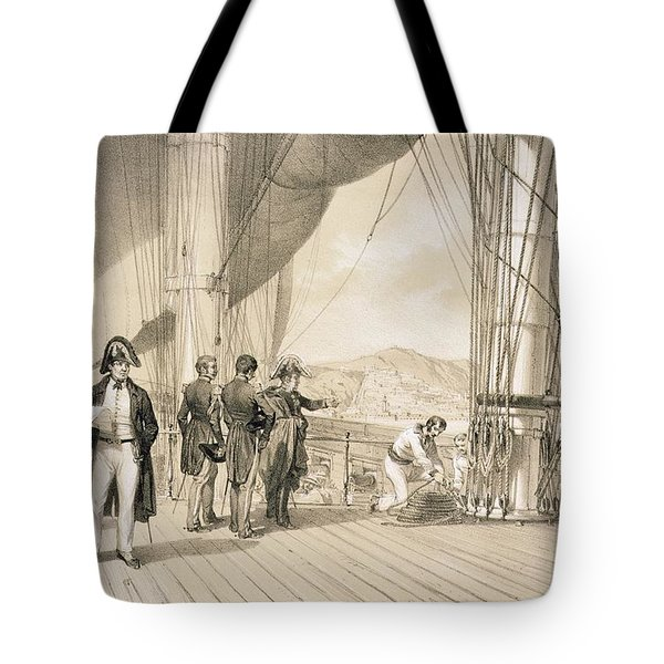 The Comte De Bourmont And Admiral Tote Bag