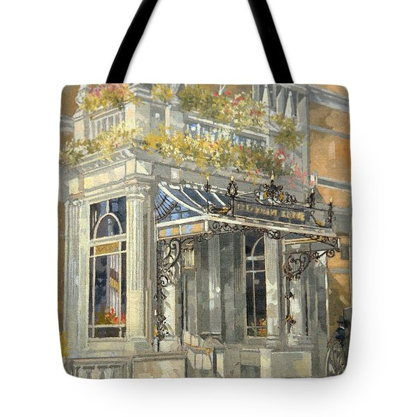 The Connaught Hotel, London Oil On Canvas Tote Bag