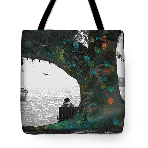 The Conscious Tree Tote Bag by Betsy Knapp