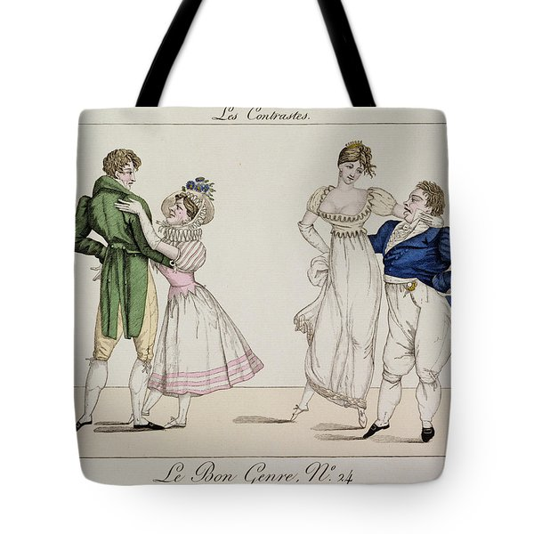The Contrasts, Plate 24 From Le Bon Tote Bag